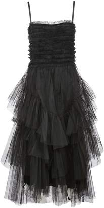 RED Valentino Tiered Tulle Midi Dress