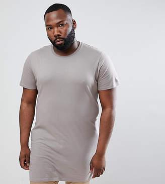 BEIGE Asos Design ASOS DESIGN Plus super longline t-shirt in
