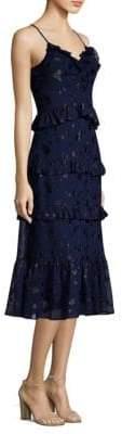 MICHAEL Michael Kors Mid-Length Ruffle Midi Dress