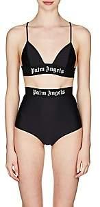 Palm Angels Women's Logo-Band Triangle Bra Top - Black