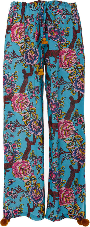 Figue Goa cropped silk pants