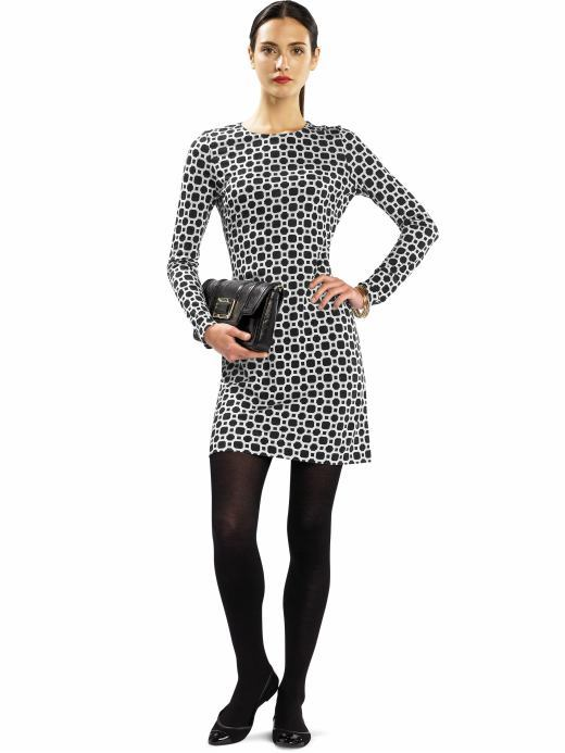 Banana Republic Long-sleeve graphic print dress