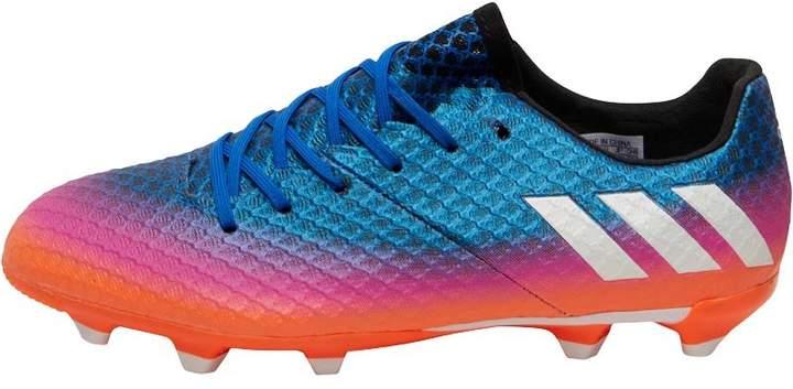 Junior MESSI 16.1 FG Blue Blast Pack Football Boots Blue/White/Solar Orange