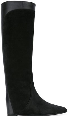 Lanvin pull-on contrast panel boots $1,190 thestylecure.com