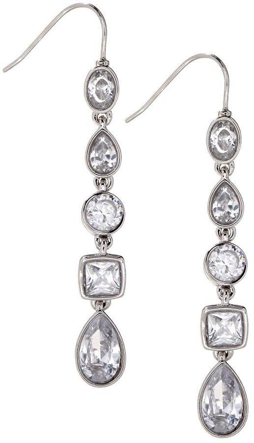 Carolee Crystal Linear Drop Earrings