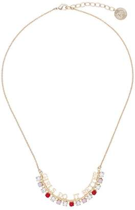 Anton Heunis gold plated Girls Do It Better Swarovski crystal necklace