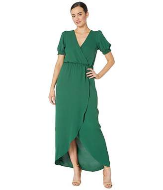 American Rose Eden Short Sleeve Faux Wrap Dress