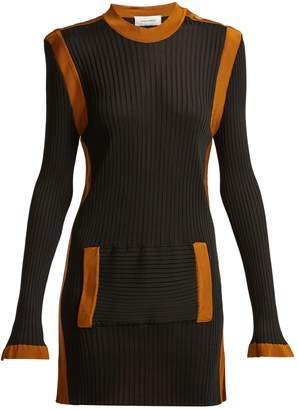 Wales Bonner Ribbed-knit kangaroo-pocket dress