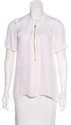 The Kooples Short Sleeve V-Neck Top