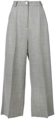 Natasha Zinko gabardine pleated cropped trousers