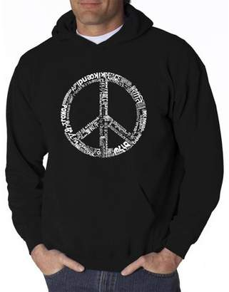 Pop Culture Big Men's Hoodie - The Word Peace In 77 Languages