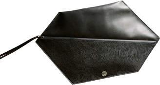 Leather Hexagon Clutch