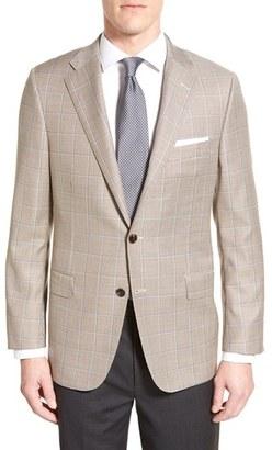 Men's Hickey Freeman Classic Fit Windowpane Wool Sport Coat $1,195 thestylecure.com