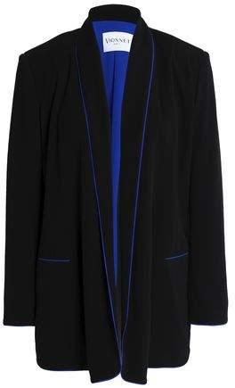Silk-Trimmed Stretch-Jersey Blazer
