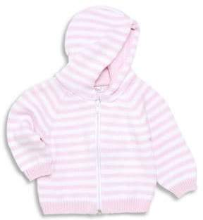 Kissy Kissy Baby Girl's Striped Zip-Front Hoodie