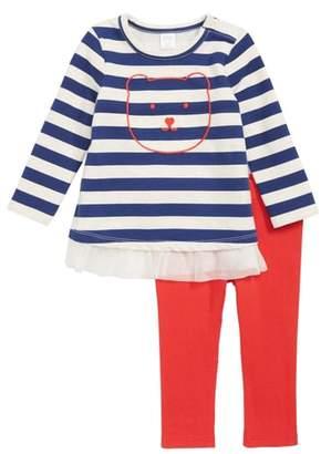 Nordstrom Embroidered Stripe Tunic & Leggings Set