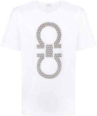 Salvatore Ferragamo logo patch T-shirt
