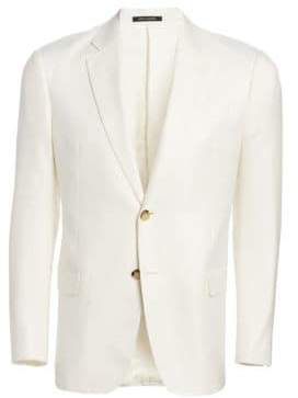 Emporio Armani Fitted Bamboo Button Blazer
