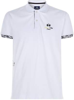 La Martina Floral Trim Polo Shirt