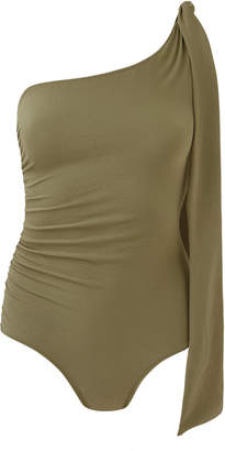 Lisa Marie Fernandez Arden One-Shoulder Swimsuit