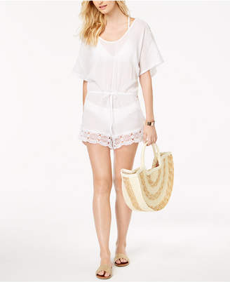 LaBlanca La Blanca Crochet-Trim Romper Cover-Up
