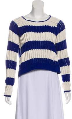 Elizabeth and James Stripe Print Crop Sweater