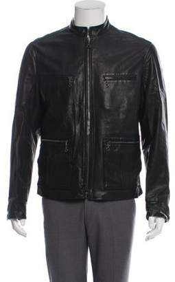 John Varvatos Leather Moto Jacket black Leather Moto Jacket