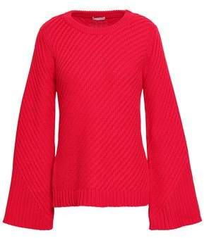 Joie Cutout Ribbed Cotton Sweater