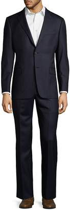 Hickey Freeman Men's Pinstripe Wool Suit