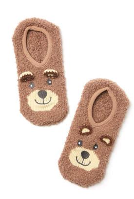 PJ Salvage Teddy Bear Ankle Slipper Socks