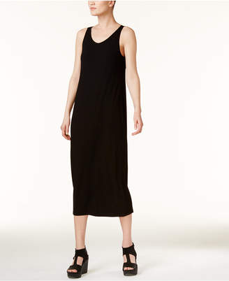 Eileen Fisher Stretch Jersey Scoop-Neck Midi Dress, Regular & Petite