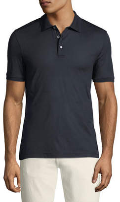 Salvatore Ferragamo Men's Silk Polo Shirt