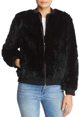 525 America Real Rabbit Fur Bomber Jacket - 100% Exclusive