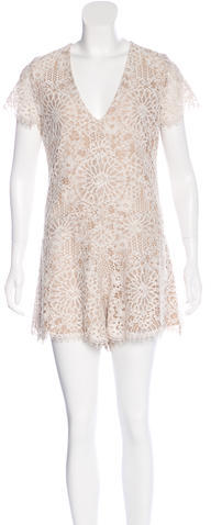 Alexis Alexis Lace Short Sleeve Romper