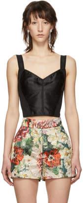 Dolce & Gabbana Black Lace Longline Bra