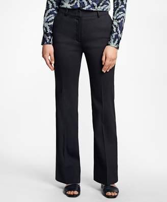 Brooks Brothers Wide-Leg Stretch Linen-Blend Pants