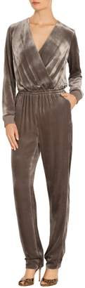 St. John Rayon Silk Velvet Jumpsuit
