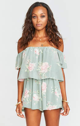 Show Me Your Mumu Dixie Romper ~ Sweetheart Sage