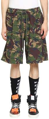 Off-White Diagonal Camouflage Cotton Shorts