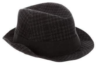 Gucci Wool Gingham Fedora