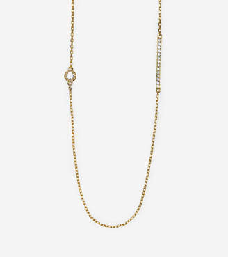 Cole Haan Brilliant Cubic Zirconia Long Station Necklace