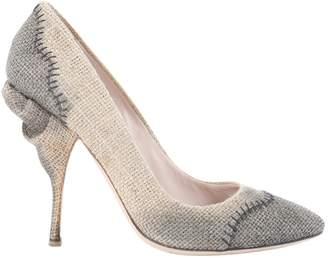 Miu Miu Beige Cloth Heels