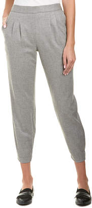 Rebecca Taylor Flannel Wool-Blend Jogger
