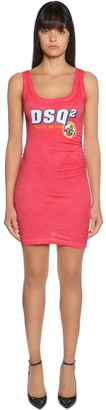 DSQUARED2 Dsq2 Cotton Jersey Sleeveless Dress