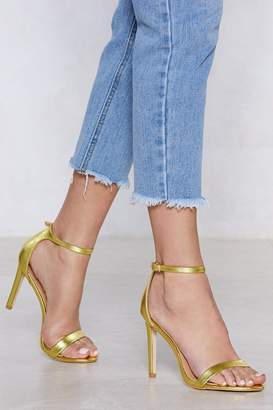 Nasty Gal Let Glow Metallic Heel
