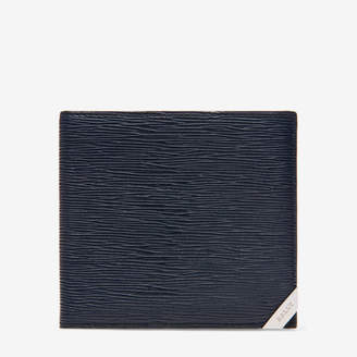 Brasai Blue, Men's embossed calf leather wallet in ink