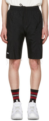 Vetements Black Reebok Edition Biker Track Shorts $690 thestylecure.com
