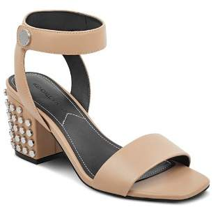 KENDALL + KYLIE Women's Sophie Studded Leather Block Heel Sandals