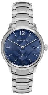 Burberry Stainless Steel Check-Print Bracelet Watch