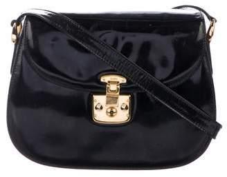 7c9cac206 Gucci Vintage Patent Padlock Crossbody Bag
